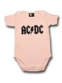 AC/DC body baby rock metal Logo Pink