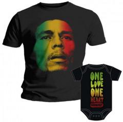 Duo Rockset Bob Marley Vater-T-shirt & Bob Marley body baby rock metal