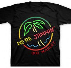 Bob Marley Kinder T-shirt Neon Sign