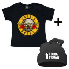 Guns n' Roses Baby T-shirt & Loud & Proud Mützchen