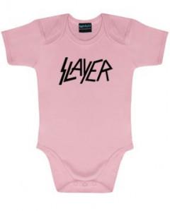 Slayer body baby rock metal Logo Pink