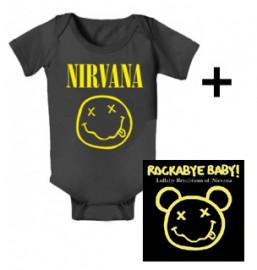 Nirvana body baby rock metal Smiley & Nirvana Rockabyebaby CD