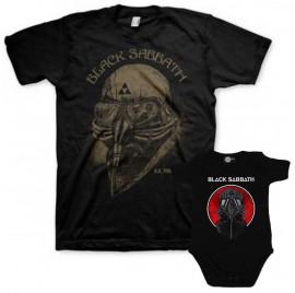 Duo Rockset Black Sabbath Vater-T-shirt & Black Sabbath body baby rock metal