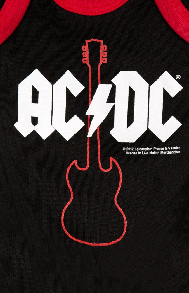 AC DC Strampler Baby Body Gibson