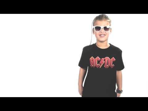 Kids ACDC T-Shirt Metal Logo Colour