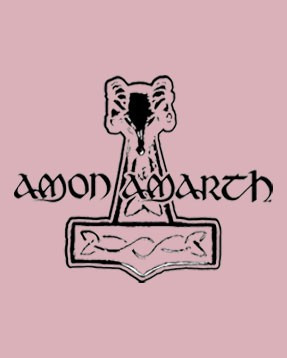 Amon Amarth Baby Body Logo Pink Metal-Baby