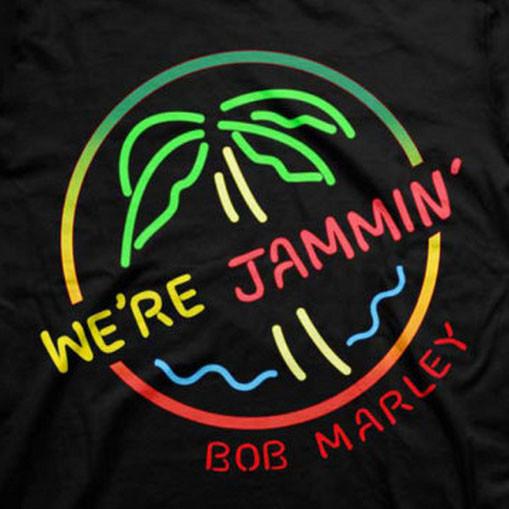 Bob Marley Kids T-shirt Neon Sign close up image