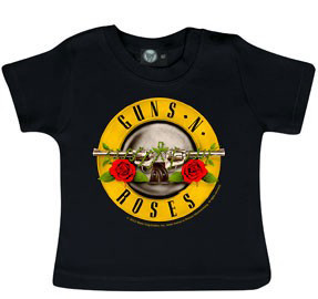 Guns and Roses Baby T-shirt Bullet Guns 'n Roses -import