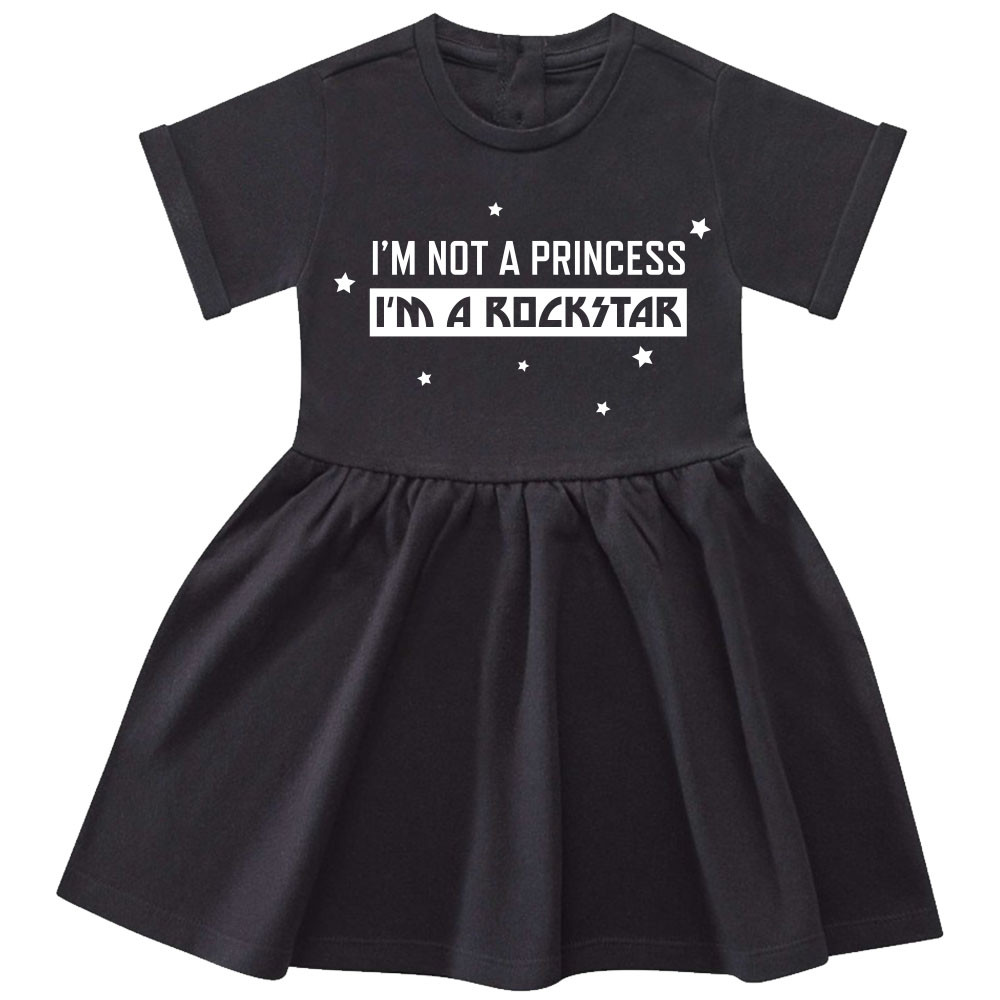 I'm not a princess I'm a rockstar Baby Kleid