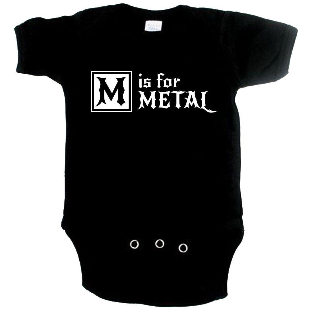 Metal Baby romper M is for Metal