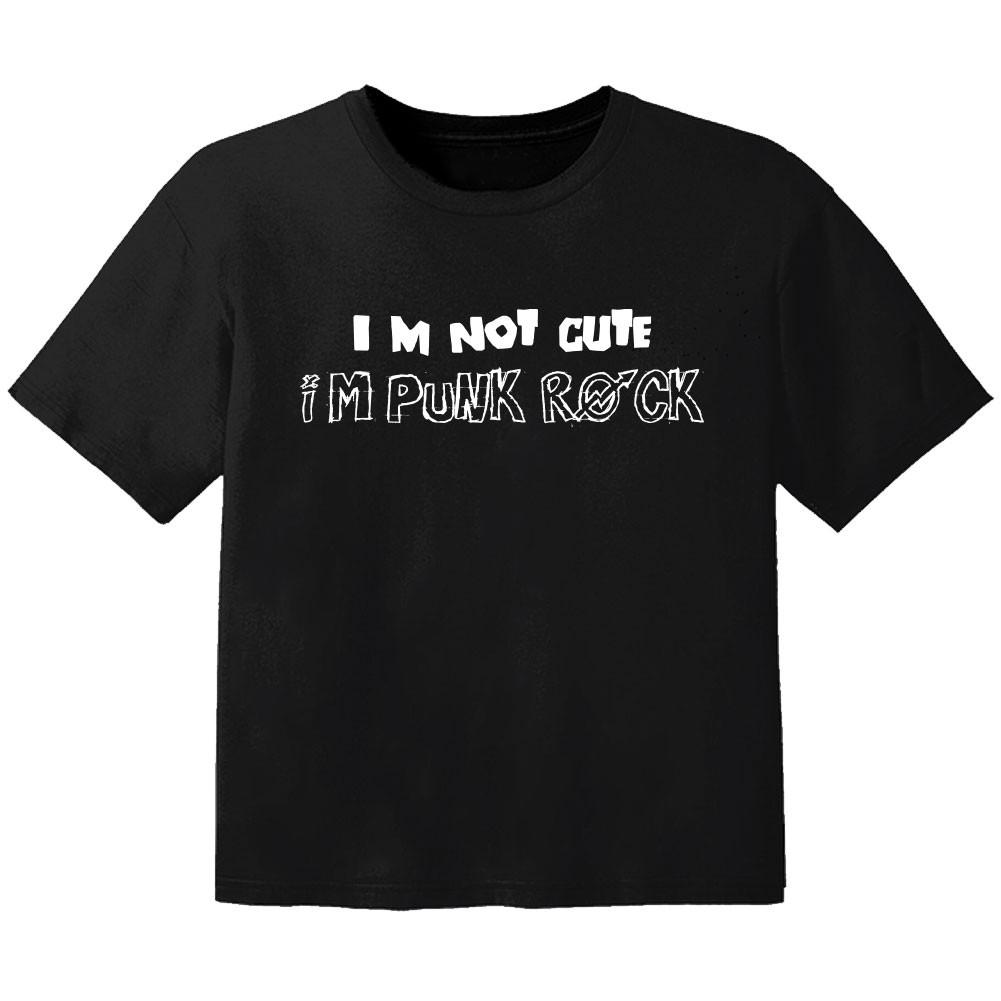 Rock Kinder Tshirt im not cute im Punk Rock