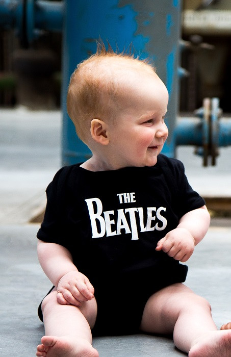 The Beatles baby romper Eternal photoshoot