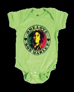 Bob Marley Baby Body One Love Lime