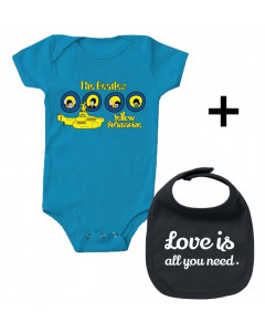 Beatles Baby Body Portholes & Love is all you Need Lätzchen