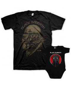 Duo Rockset Black Sabbath Vater-T-shirt & Black Sabbath Baby Body