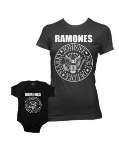 Duo Rockset Ramones Mutter-T-shirt & Ramones Baby Body