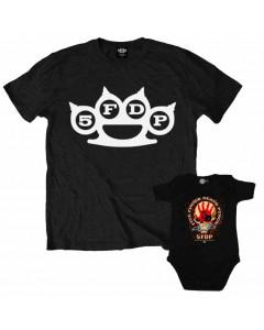 Duo Rockset Five Finger Death Punch Vater-T-shirt & Five Finger Death Punch Baby Body
