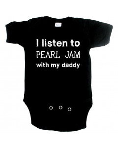 Rock Baby Strampler I listen to Pearl Jam with my Daddy