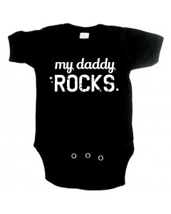 Cool Baby Strampler my Daddy Rocks