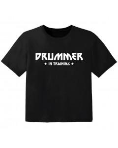 Rock Kinder Tshirt drummer in training